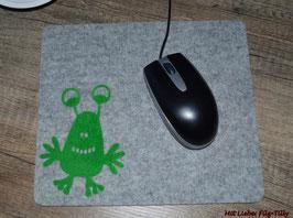 """Mousepad aus Filz """" Monster Glabber grün"""""""