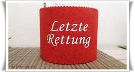 Manschette für die Klopapierrolle / Letzte Rettung /  rot-weiß