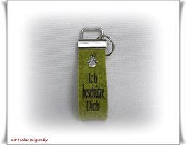 Schlüsselanhänger aus Filz / Engel / Ich beschütze Dich