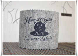 """WC Rollen Hülle """"Hamsterkauf - Ich war dabei!"""" dunkelgrau auf grau"""