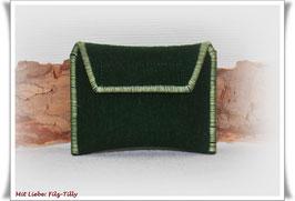 TAN - Lesegerät Tasche aus Filz / dunkelgrün - hellgrün