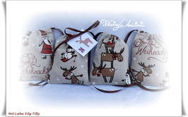 Adventskalender / 24 wundervolle Adventssäckchen / Santa Twins