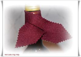 Weinkragen aus Filz / Farbe frei wählbar / jeweils im 2er-Set