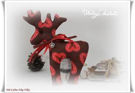 Rentier / Elch / Weihnachts-Elch / Rentier voller Liebe