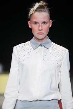 Embroidered Tampon Blouse