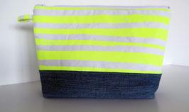 Neon Gelb Streifen Jeans