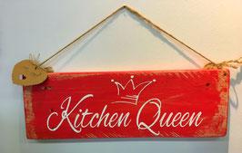 """Shabby chic Holzschild """"Kitchen Queen"""""""