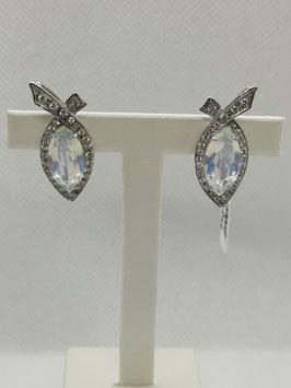 Orecchini Opale e Diamanti
