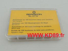 Assortiment de 100 bouchons laiton pour pendantes Bergeon 6715