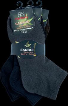 Bambus Viskose Kurzstrumpf dunkel