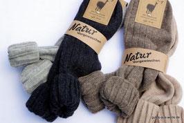 Alpaka Socke mit Umschlag
