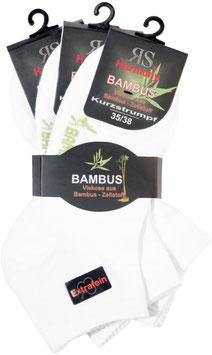 Bambus Viskose Kurzschaft weiß