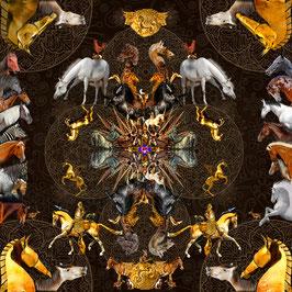Seidentuch: Das goldene Pferd