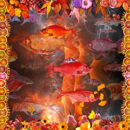 Seidentuch: Die Farben des Herbstes