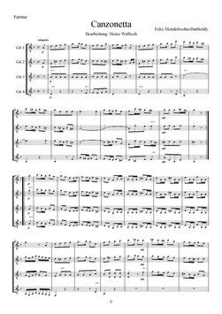 Mendelssohn-Bartholdy, Felix: Canzonetta