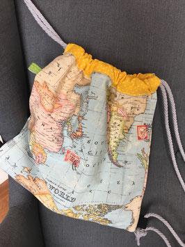 Turnbeutel Weltkarte