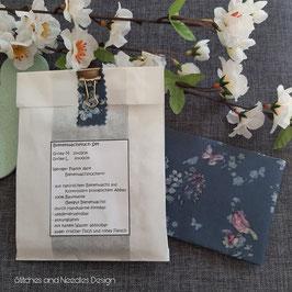 Bienenwachstuch-Set Blaue Blüten