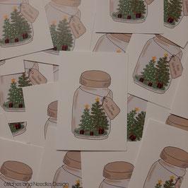 Grußkarte Weihnachtsglas