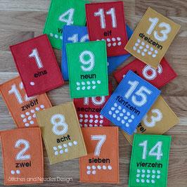 Lernkarten Zahlen 1 - 20 (Filz)