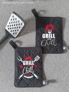 "Topflappen-Set ""Grill und Chill"""