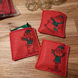 Mini-Schokolädchen Weihnachtsmann (3er Set)