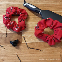 """Scrunchie """"Rote Blume"""""""