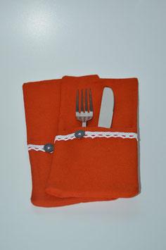 Bestecktasche Orange (2 Stück)