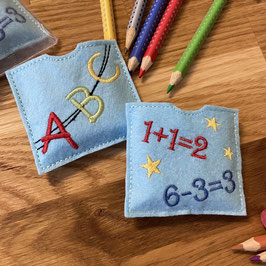 Kleine Aufmerksamkeiten für die Schultüte (2er Set) blau