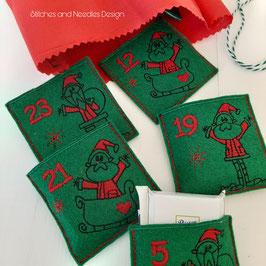 Mini-Schokoladen Adventskalenders Weihnachtsmann