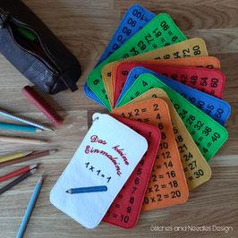 Kleine Einmaleins-Lernkarten (Filz)
