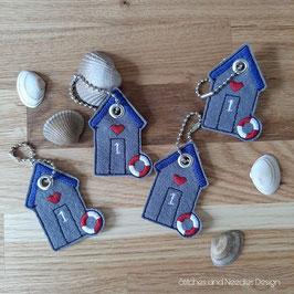 Schlüsselanhänger Strandhaus