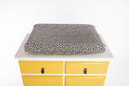 aankleedkussenhoes Leopard oker