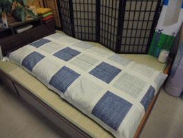 一級寝具技能士(愛知県知事賞受賞)の手作りの木綿敷き布団 K5386 グレー
