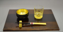 木製膳・グラスセット