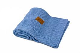 Blue melange blanket