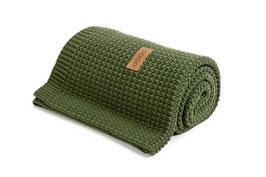 Green knitted blanket
