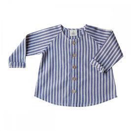 Organic cotton stripped blouse