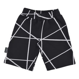 Black Lines Shorts