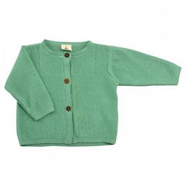 Organic cotton cardigan green