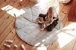 Linen leaf mat - natural