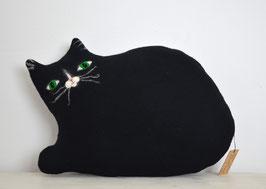 Kissen Katze schwarz groß