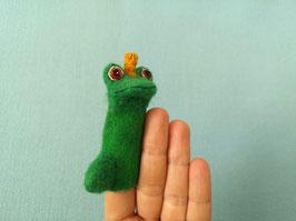 Fingerpuppe Froschkönig