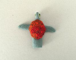 Fingerpuppe rote Schildkröte