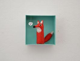 Fingerpuppe roter Fuchs in der Box *und ob!
