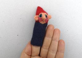 Fingerpuppe dunkelblauer Zwerg