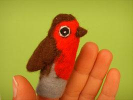 Fingerpuppe Rotkehlchen