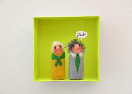 Fingerpuppen Oma und Opa in der Box *Glück