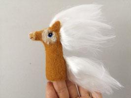 Fingerpuppe Haflinger Pony
