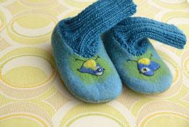 Hausschuhe für Kinder *Blaumeise