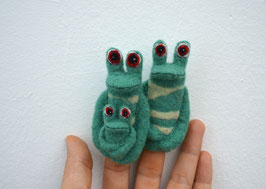 Fingerpuppe Familie Frosch